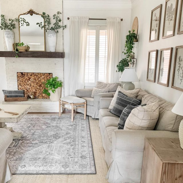 Today on the blog, I shared a living room spring tour along with this pretty new vintage inspired rug from @boutiquerugs . This beautiful rug comes in 6 different colors, so head to www.blessthisnestblog.com or link in profile for links!   #modernfarmhouse #farmhousestyle #interior123 #bhghome #antiquefarmhouse #homedecor #shiplap #farmhouseinspired #farmhousedecor #magnoliahome #neutraldecor #americanfarmhousestyle #prettylittleinteriors #fixerupper #countrylivingmagazine #mydecorvibe #currentdesignsituation #betterhomesandgardens #ltkhome #moody_tones