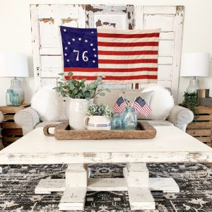 vintage flag living room